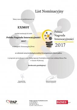 List Nominacyjny - PNI 2017 EXMOT-1